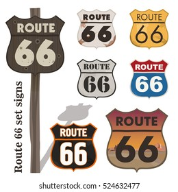 Route 66 set signs