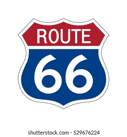 Route 66 Sign .
