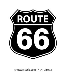Route 66 Sign black