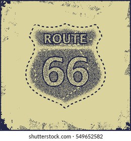route sixty six sign vector illustration