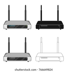 Router, single icon in cartoon style.Router vector symbol stock illustration web.