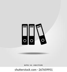 Row of binders icon