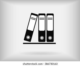 Row of binders vector