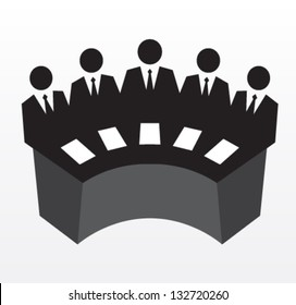 Row of business executives. Team of professionals, leadership. Vector illustration concept