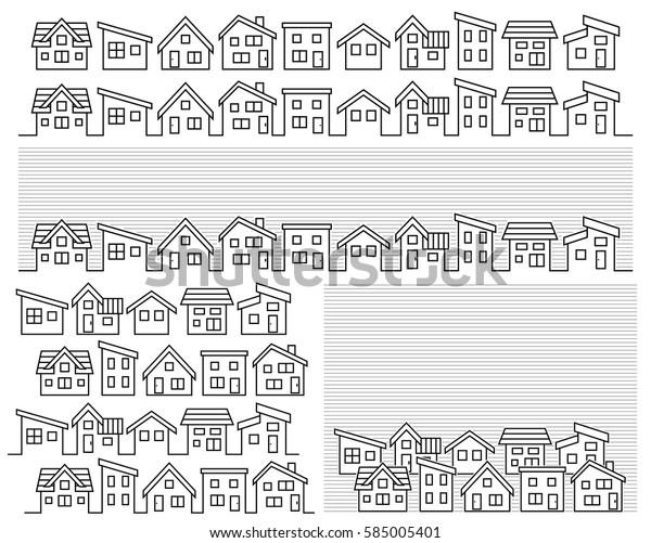 Image Vectorielle De Stock De Ligne Dune Maison Simple