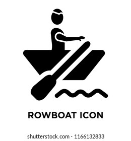 Rowboat icon vector isolated on white background, Rowboat transparent sign