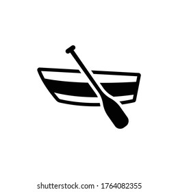 Rowboat icon vector in trendy flat style isolated on white background
