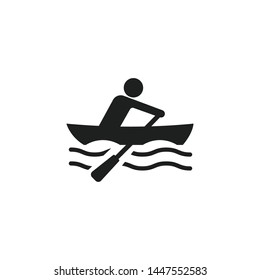 Rower Icon Isolated On White Background. Rowing Symbol Modern Simple Vector Icon For Website Or Mobile App