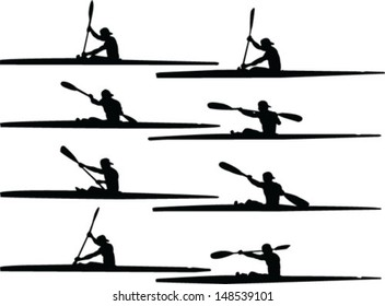 rowing collection - vector