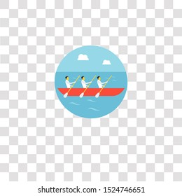 rowing icon sign and symbol. rowing color icon for website design and mobile app development. Simple Element from teamwork and organization collection for mobile concept and web apps icon.