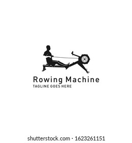 Rowing machine logo design. Trendy rowing machine icon from gym and fitness collection.