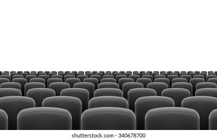 Rows of Cinema or Theater Black Seats
