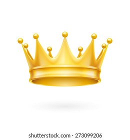 Royal attribute golden crown isolated on a white background