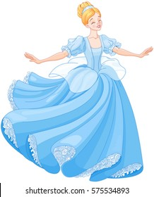 The royal ball dance of Cinderella