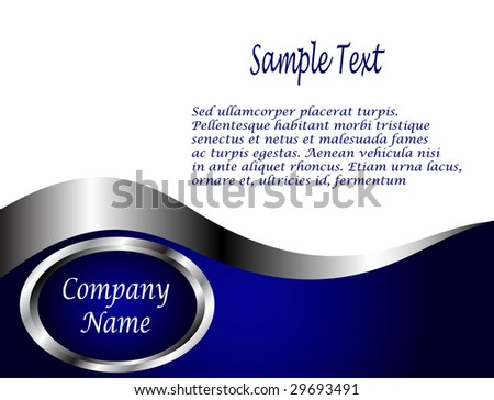 A Royal Blue And Silver White Vector Business Card Or Background Template