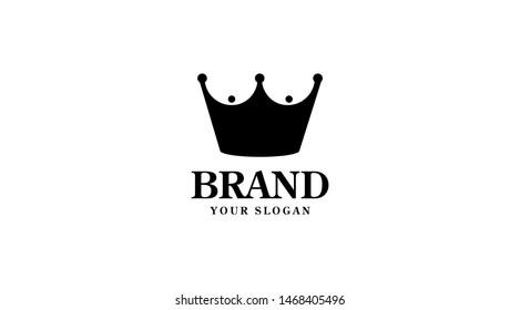 Royal boobs vector logo. Crown club logo