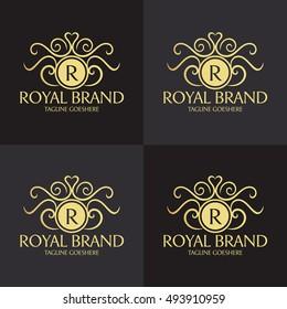 Royal Brand logo design template ,Luxury logo design concept ,Vector illustration