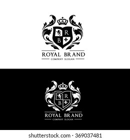 Royal Brand Luxury Crest Logo Template