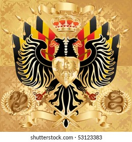 Royal Coat of Arms. Vector illustration.