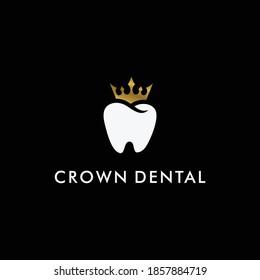 Royal crown dental logo design