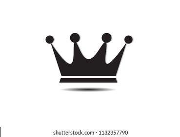 Royal Crown Icon Vector Logo Template.Vector illustration EPS 10.