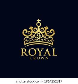 Royal Crown Logo Vector Template