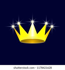 Royal crown. Royalty symbol. Vector illustration EPS10