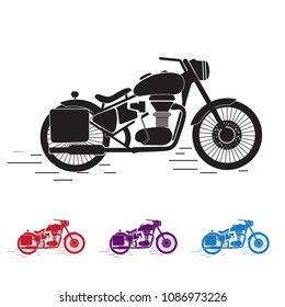 Royal enfield Bullet Silhouette flat icon vector
