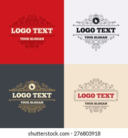 Royal flourishes calligraphic. Hand cursor sign icon. Hand pointer symbol. Luxury ornament lines. Vector