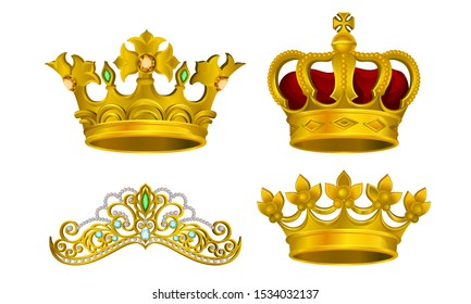Royal Golden King Jewelry Vector Illustrated Collection