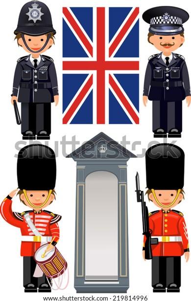 Image Vectorielle De Stock De Royal Guard Buckingham Palace