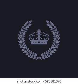 Royal Heraldic Decoration Laurel Wreath