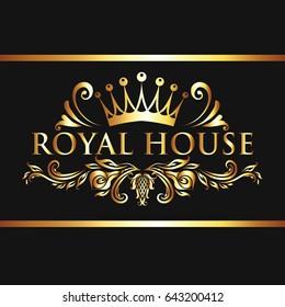 Royal House Vintage Gold Logo Vector