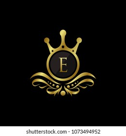 Royal King E Letter Logo