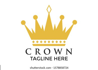 Royal King Queen Antique Crown Logo abstract Logo-Design, Vector. Symbols for Concepts and Geometric Symbols Logo.