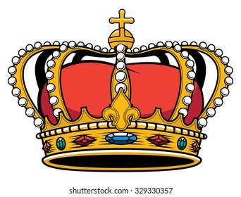 Royal Kings jeweled Gold encrusted medieval crown