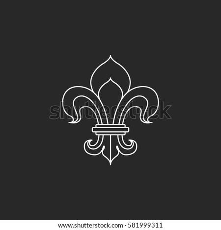 Royal Lily Fleur De Lis Symbol Stock Vector Royalty Free 581999311