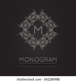 Royal linear modern monogram, logo vector template. Hotel logo. Kings symbol.