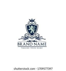 Royal Lion Badges Heraldic Logo