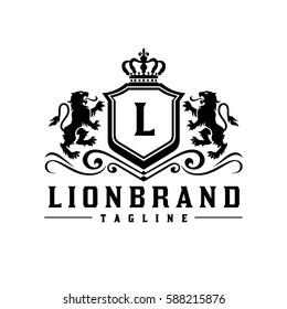 Royal Lion King / Crest Logo