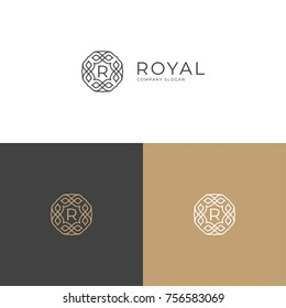 royal logo monogram elegant