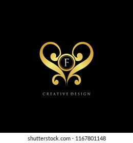 F love images stock photos vectors shutterstock royal love f letter logo altavistaventures Images