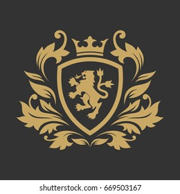 Royal luxury logo design template