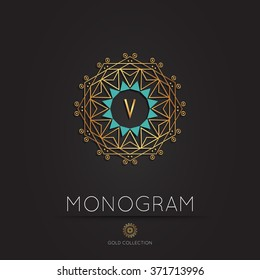 Royal modern monogram, logo vector template. Hotel logo. Kings symbol.