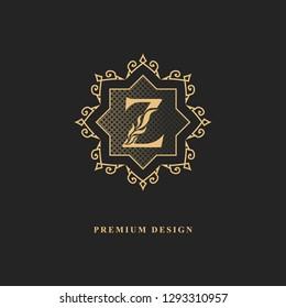 Royal monogram design. Luxury volumetric logo template. 3d line ornament. Emblem with letter Z for Business sign, badge, crest, label, Boutique brand, Hotel, Restaurant, Heraldic. Vector illustration