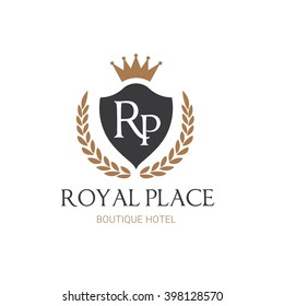 Royal place Hotel Logo Template