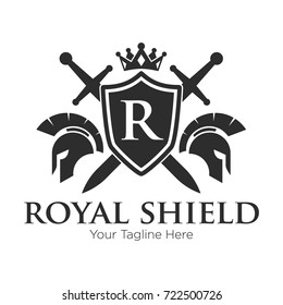 royal shield logo black Logo
