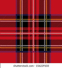 Royal Stewart Tartan Seamless Cloth Pattern