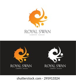 Royal Swan Logo Template