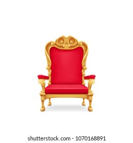 Royal throne, isolated on white.